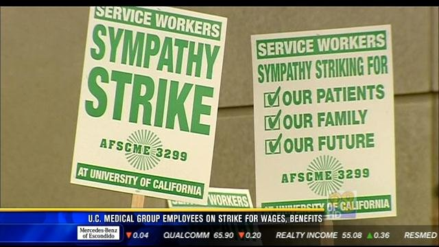 Workers start 2-day strike at UC hospitals