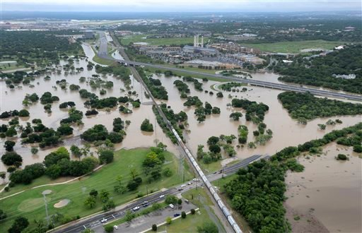 The Olmos Basin Municipal Golf Course and Basse Road in San Antonio are underwater Saturday May 25, 2013 as a result of heavy rains in San Antonio.