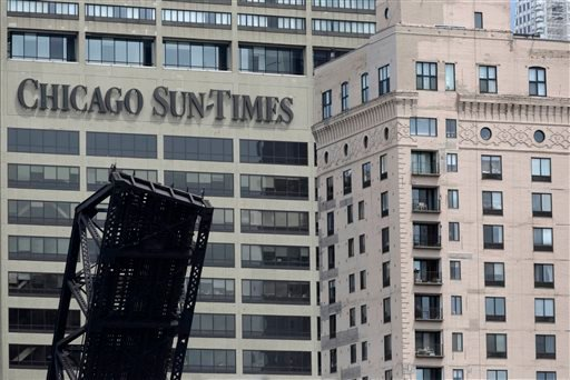 The Chicago Sun Times building is photographed Thursday, May 30, 2013, in Chicago. (AP)