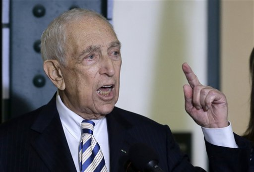 In this Feb. 15, 2013 file photo, Sen. Frank Lautenberg, the oldest member of the Senate, speaks in his hometown of Paterson, N.J., where he said he plans to retire at the end of his current term.