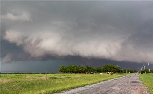 FILE - In this May 31, 2013 file photo, a tornado forms near Banner Road and Praire Circle in El Reno, Okla. (AP)