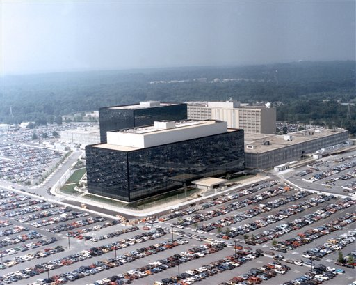 This undated US government photo shows an aerial view of the National Security Agency (NSA) in Fort Meade, Md.