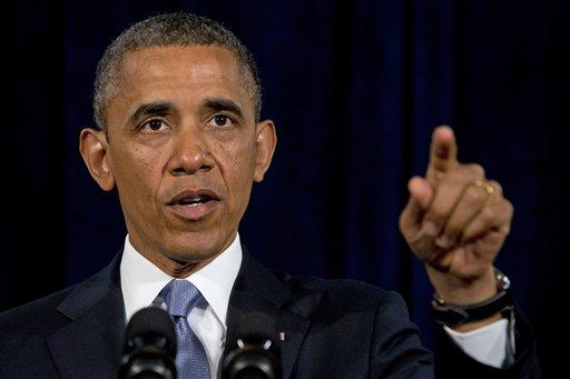 President Barack Obama gestures while speaking in San Jose, Calif. , Friday, June 7, 2013. (AP)