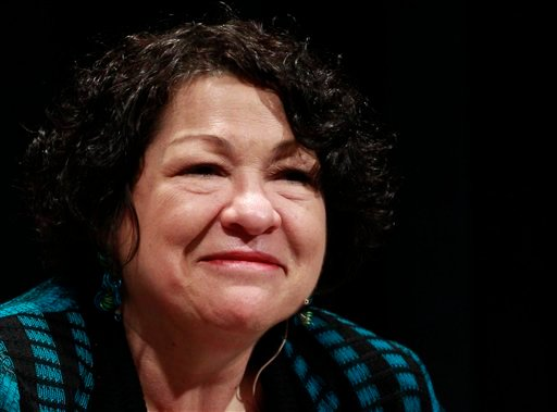 Supreme Court Justice Sonia Sotomayor is seen in Denver. Sotomayor has gotten more than $3 million in advance payments for her best-selling memoir from her publisher. (AP Photo/Brennan Linsley, File)