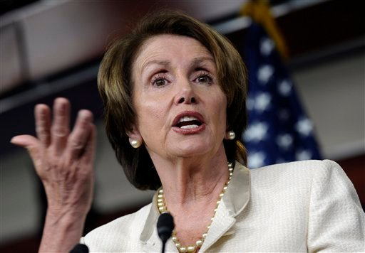 In this photo taken June 27, 2013, House Minority Leader, Democrat Nancy Pelosi of California, speaks at a Capitol Hill news conference in Washington.