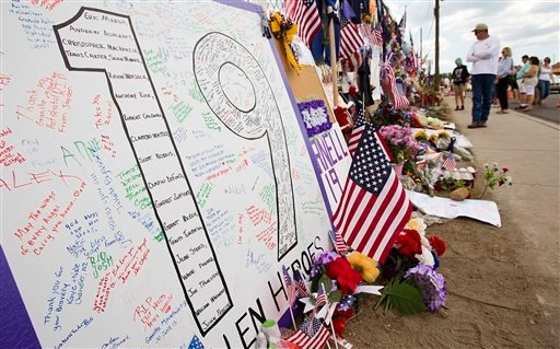 Nineteen Granite Mountain Hotshot firefighters were killed by an out-of-control blaze near Yarnell, Ariz. on June 30.