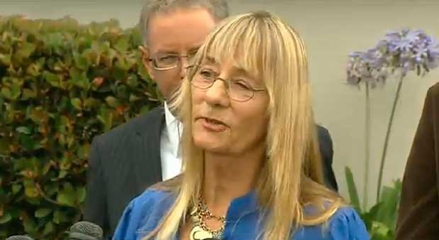 Donna Frye, a former councilwoman and once a key supporter of Filner, choked up earlier in the day as she called for Filner to step down.
