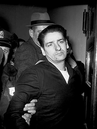 FILE - This Feb. 25, 1967, file photo shows self-confessed Boston Strangler Albert DeSalvo minutes after his capture in Boston. (AP)
