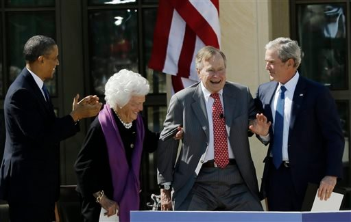 The first President Bush is coming to the White House on Monday, July 15, 2013, for a ceremony Obama is holding to recognize the 5,000th Daily Point of Light Award, which Bush created more than two decades ago while in office to honor volunteer service.