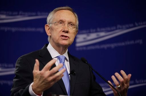 Senate Majority Leader Harry Reid, D-Nev., speaks at the center for American Progress Action Fund in Washington, Monday, July 15, 2013. (AP)
