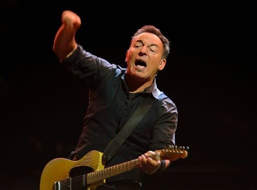 In this May 3, 2013 file photo, U.S. singer-songwriter Bruce Springsteen performs with the E-Street Band at a concert in Stockholm.