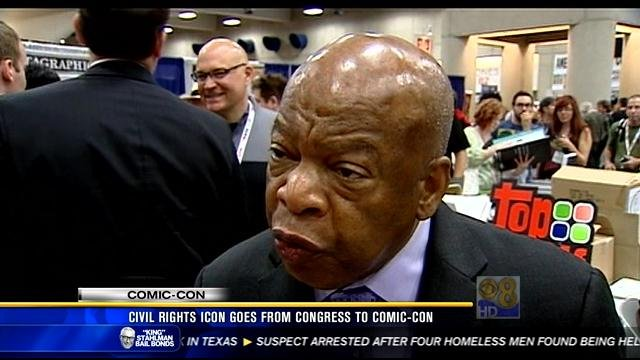 Civil rights icon Rep. John Lewis at Comic-Con 2013.