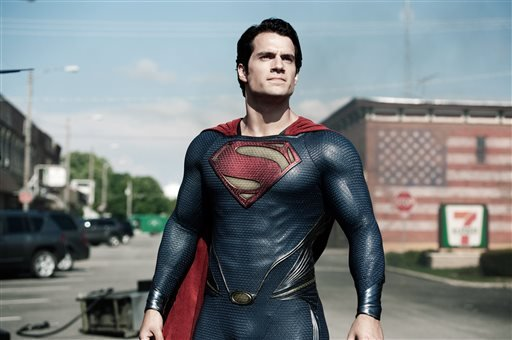 """This film publicity image released by Warner Bros. Pictures shows Henry Cavill as Superman in """"Man of Steel."""" (AP Photo/Warner Bros. Pictures, Clay Enos, File)"""