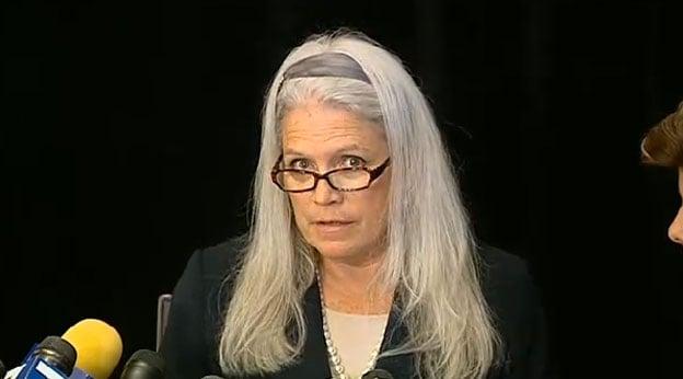 Alleged Filner victim, Irene McCormack Jackson, speaks at a news conference Monday, July 22, 2013.