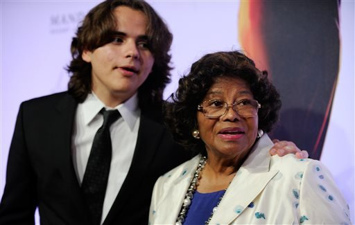 "FILE - In this June 29, 2013 file photo, Prince Jackson, left, and Katherine Jackson arrive at the world premiere of ""Michael Jackson ONE"" at THEhotel at Mandalay Bay Resort and Casino in Las Vegas. (AP)"