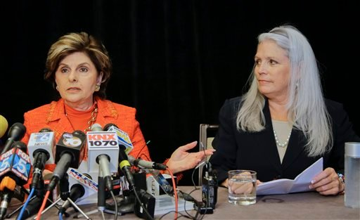 Attorney Gloria Allred, with her client, Irene McCormack, have a news conference where they revealed details regarding their accusations of sexual misconduct against San Diego Mayor Bob Filner in San Diego, Monday, July 22, 2013.