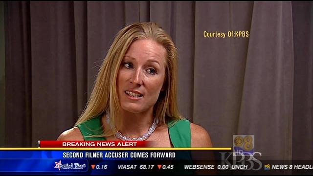 Laura Fink seen in this video screen image. (Image provided by KPBS)