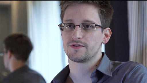 This Sunday, June 9, 2013 file photo provided by The Guardian Newspaper in London shows Edward Snowden, in Hong Kong. (AP Photo/The Guardian, Glenn Greenwald and Laura Poitras, File)