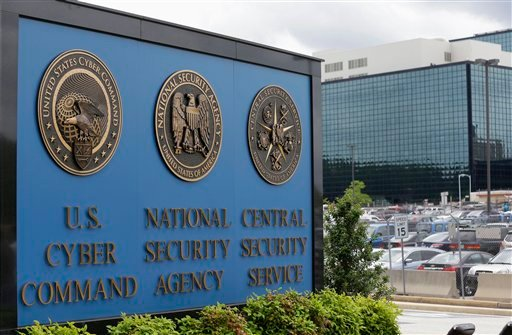 FILE - This June 6, 2013 file photo shows the sign outside the National Security Administration (NSA) campus in Fort Meade, Md. (AP)