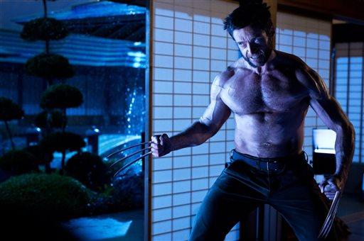 """This publicity photo released by Twentieth Century Fox shows Hugh Jackman as Logan/Wolverine in a scene from the film, """"The Wolverine."""" (AP Photo/Twentieth Century Fox, Ben Rothstein)"""