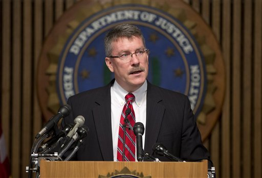 """Ron Hosko, assistant director of the FBI's Criminal Investigative Division, speaks during a news conference at FBI headquarters in Washington, Monday, July 29, 2013, about """"Operation Cross Country."""""""