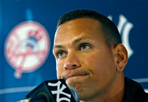 FILE - In this Feb. 25, 2010 file photo, New York Yankees' Alex Rodriguez speaks at a news conference during baseball spring training at Steinbrenner Field in Tampa, Fla. (AP)