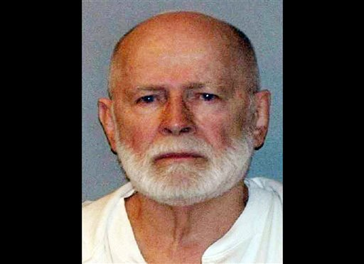 "This June 23, 2011, booking photo provided by the U.S. Marshals Service shows James ""Whitey"" Bulger, who fled Boston in 1994 and wasn't captured until 2011 in Santa Monica, Calif., after 16 years on the run."