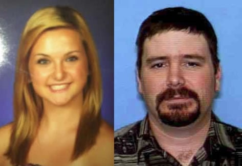 This combined photo shows Hannah Anderson, 16 and kidnapping suspect James DiMaggio, 40.