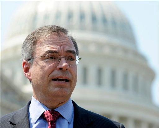 In this June 28, 2012 file photo Rep. Andy Harris, R-Md., speaks at a news conference outside the US Capitol in Washington.