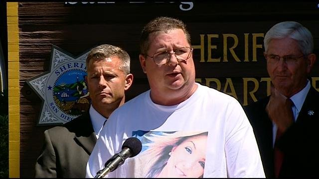 Hannah Anderson's father Brett Anderson addresses the media Monday, August 12.