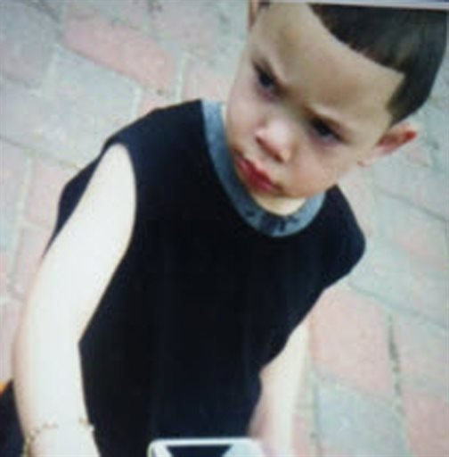 This undated photo released by the Rhode Island State Police through the Amber Alert website shows two-year-old Isaiah Perez.