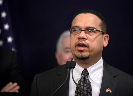 - In this March 15, 2012, file photo, U.S. Rep. Keith Ellison, D-Minn., the first Muslim elected to Congress and co-chairman of the Congressional Progressive Caucus, speaks during a news conference in Cairo.
