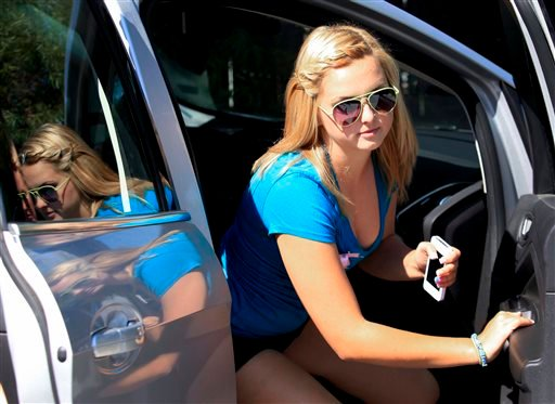 In this Thursday, Aug. 15, 2013 file photo, Hannah Anderson arrives at the Boll Weevil restaurant for a fundraiser in her honor to raise money for her family, in Lakeside, Calif.
