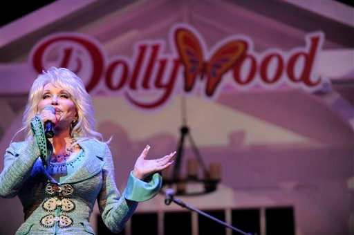 Dolly Parton speaks during a news conference to annouce plans to expand her Dollywood properties on Wednesday, Aug. 21, 2013, in Pigeon Forge, Tenn. (AP)