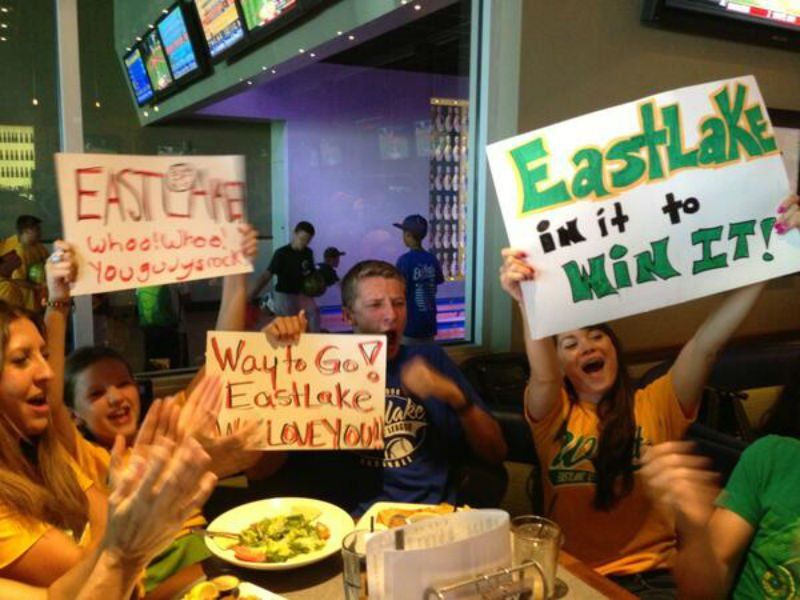 Fans cheer on the Eastlake All-Stars