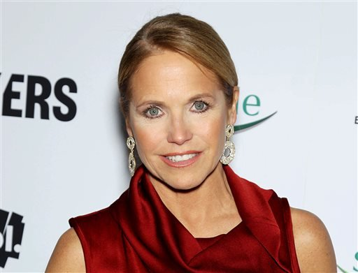 """This Feb. 6, 2013 file photo provided by Starpix shows TV personality Katie Couric at the premiere of """"Makers: Women Who Make America"""" at Alice Tully Hall at Licoln Center in New York."""