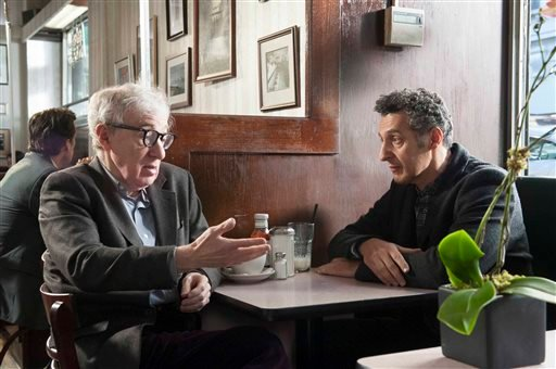 "This publicity image released by Toronto International Film Festival shows Woody Allen, left, and John Turturro in ""Fading Gigolo,"" a film being showcased at the Toronto International Film Festival."