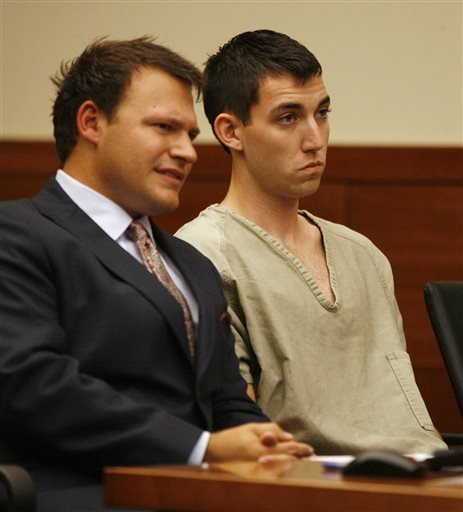 Matthew Cordle, right, and his attorney, Martin Midian listen Tuesday, Sept. 10, 2013 as Franklin County Common Pleas Judge Julie Lynch announces the rescheduling of his arraignment for Wednesday, Sept. 11. (AP)