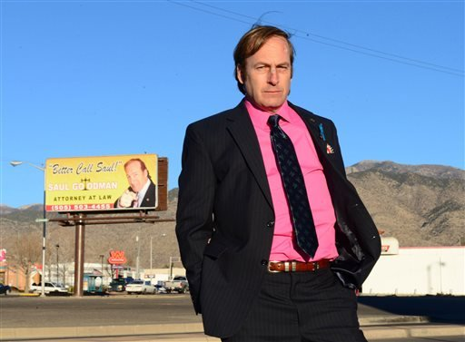 "This image released by AMC shows Bob Odenkirk in a scene from the final season of ""Breaking Bad."" (AP)"