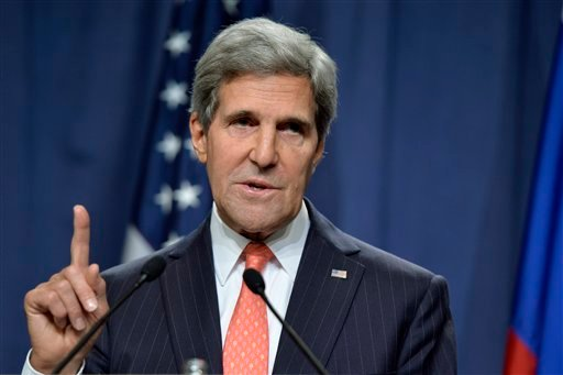 U.S. Secretary of State John Kerry, attends a news conference in Geneva, Switzerland, Saturday Sept. 14, 2013.