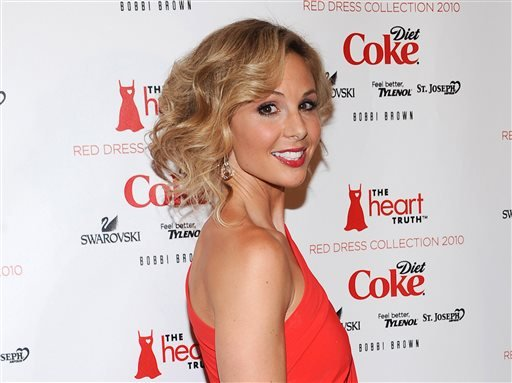 This Feb. 11, 2010 file photo shows TV personality Elisabeth Hasselbeck at The Heart Truth's Red Dress Collection 2010 fashion show in New York.