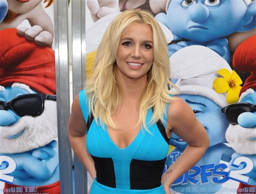 """In this July 28, 2013 file photo, singer Britney Spears arrives to the world premiere of """"The Smurfs 2"""" in Los Angeles. Spears announced a 16-date residency at Planet Hollywood Resort & Casino on ABC's """"Good Morning America"""" on Tuesday, Sept 17."""