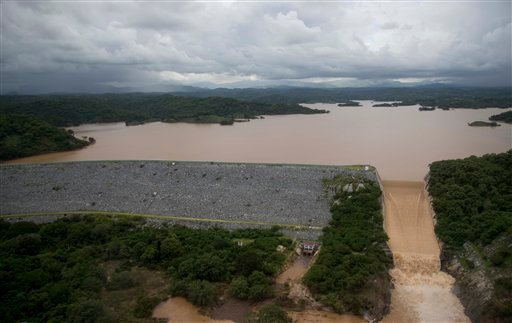 An aerial view of the hydroelectric dam of La Venta which provides power to the Guerrero State, near Acapulco, Mexico, Friday, Sept. 20, 2013.