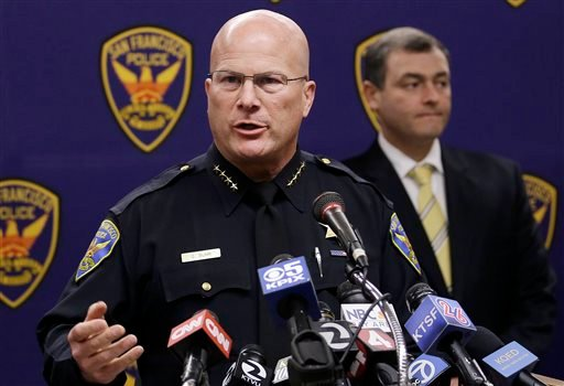 San Francisco Police Chief Greg Suhr speaks at a news conference in San Francisco, Thursday, Sept. 26, 2013. (AP Photo/Jeff Chiu)