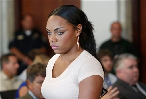 FILE - In this July 24, 2013, file photo, Shayanna Jenkins, fiancee of former New England Patriots NFL football player Aaron Hernandez, arrives at hearing for Hernandez at Attleboro District Courtroom in Attleboro, Mass. (AP)