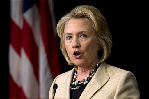 FILE - In this Sept. 9, 2013, file photo, former Secretary of State Hillary Rodham Clinton speaks about Syria in the South Court Auditorium on the White House Complex in Washington. (AP)