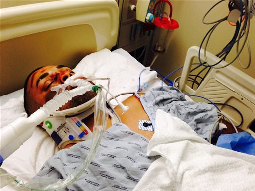 This undated photo provided by his family's attorney on Friday, Oct. 4, 2013 shows Edwin Mieses Jr. after he was struck by an SUV during a motorcycle rally in New York that turned violent on Sunday, Sept. 29, 2013.