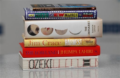The media presentation of short listed authors and their books, is a tradition ahead of the the winner of the 50,000 pounds (US$80,000) prize being announced on Tuesday, Oct. 15. (AP Photo/Sang Tan)