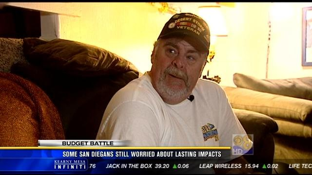 News 8 spoke with Santee resident Jerry Lauder, a Gulf War veteran who relies on the V. A. for everything from food to medical care.