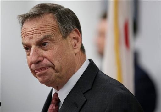 This July 26, 2013 file photo shows San Diego mayor Bob Filner speaking during a news conference at City Hall in San Diego.